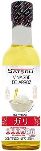 Satoru Vinagre De Arroz Para Preparar Sushi, Agridulce y Astringente - 275 ml. El empaque puede variar