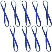 Milisten 9pcs Yoga Sports Headband Athletic Non-Slip Thin Skinny Bands Sport Headbands Workouts Sweatband Hair