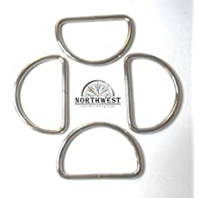 "Heavy, nickle plated, welded steel D-Rings for 2"" webbing. (10 pcs)"