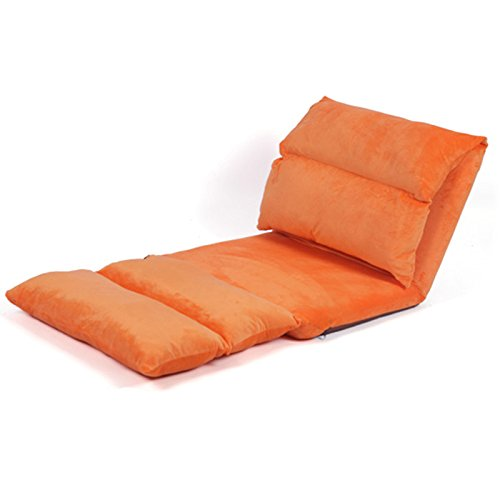 orange Leisure floats   bedside chairs   single lengthened folding, removable lazy sofa(External material  Linen Flannel) ( color   pink color )
