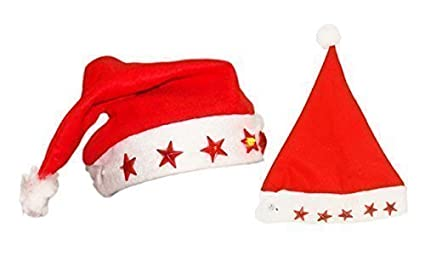 fec1b30accfbe Adult Santa Hat with LED Lights  Amazon.co.uk  Kitchen   Home