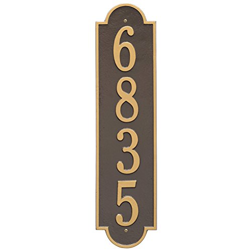 (Custom Richmond Vertical Aluminum Address Plaque 6