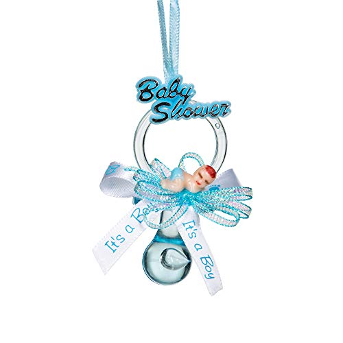Baby Shower Party Favor Pacifier Necklace (12 Pcs.): Adorable Keepsake for Expecting Moms & Guests, Premium Supplies for Gender Reveal Announcements, Decorations, Games, Cupcake Toppers, More (Blue)