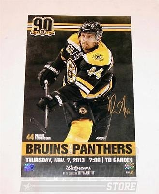 online store 973f3 f9940 Dennis Seidenberg Boston Bruins Signed Autograph Game Day ...