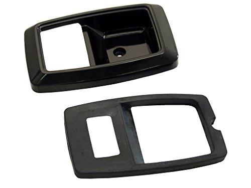 (Mustang Door Handle Bezels Black Pair 1979 -)