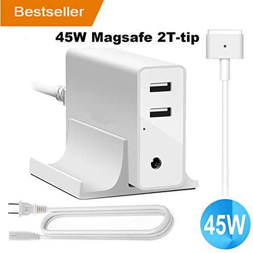 MacBook Air Charger 45W Magsafe 2 T-Tip AC Adapter with 2 US