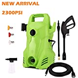 Homdox Electric Pressure Washer 2300 PSI, 1.6 GPM Compact Power Washer, 1400W Portable Electric Power Washer with External Detergent Dispenser,3 Nozzles