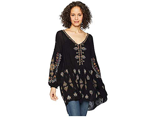 Free People Women's Arianna Tunic, Black, Small