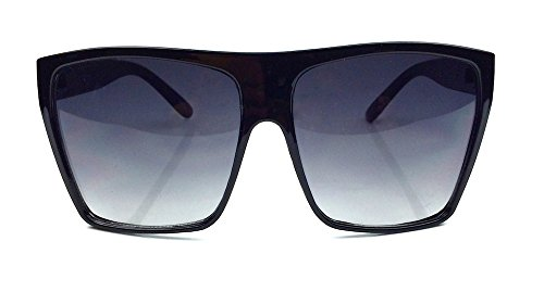 Square Aviator Flat Top Oversized Huge Large Big Frame Women Sunglasses - Aviator Huge Sunglasses