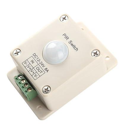 Interruptor LED PIR sensor de movimiento automático de luz LED de iluminación DC 12V-24V