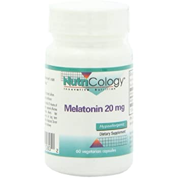 Nutricology Melatonin 20 Mg, Vegicaps, 60-Count