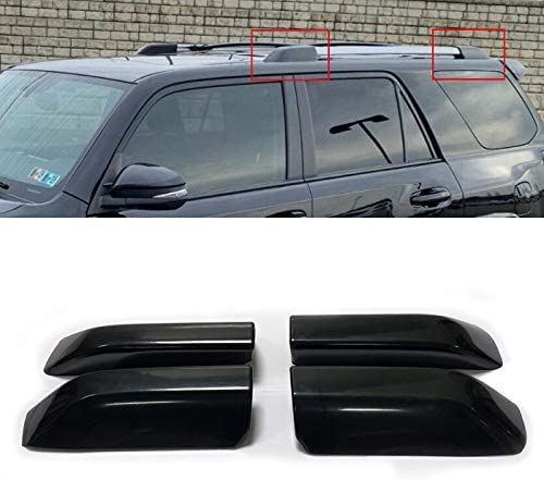 Black Roof Rack Luggage Carrier End Cap Cover Trim Fit For Toyota RAV4 2001-2005