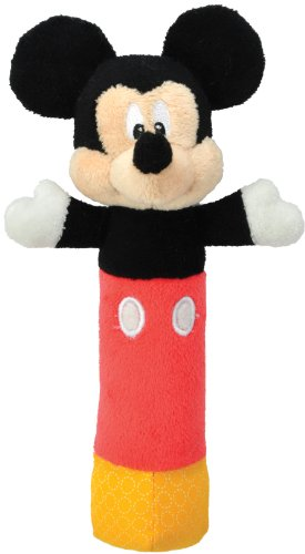 Disney Baby Mickey Mouse Plush Stick Rattle, 7