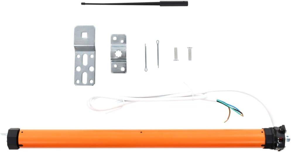 vidaXL Motor Persiana Enrollable Eléctrico 35 mm Rodillo Tubular Electromecánico Enrollar Persianas Parasoles Toldo 20-25 kg Peso Máximo 10 Nm Naranja