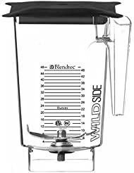 Blendtec 40 630 61 WildSide Jar For Stealth Blender 3 Qt Soft Lid Patented 5 Sided Jar Produces Better Blending Vortex Includes 4 Tuned Wingtip Blade