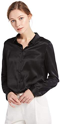 LilySilk Silk Blouse for Women 100% Pure Silk Long Sleeves Cool Smooth Tops