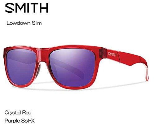 SMITH(スミス) Lowdown Slim CRYSTAL RED 【レンズ】PURPLE SOL-X 020439102 サングラス   B073RY3CWD