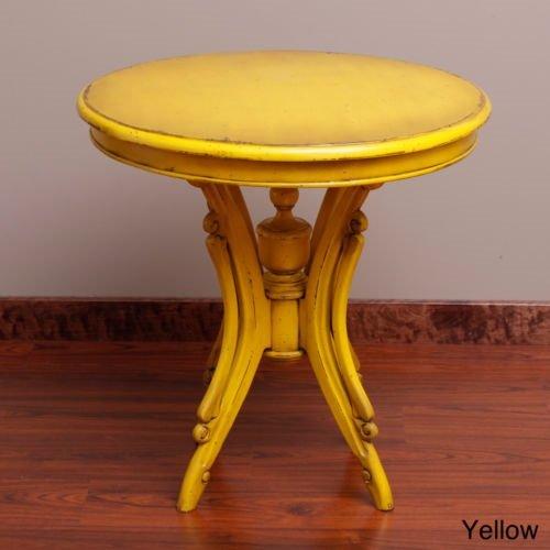 Handmade Kalepso Wood Circular Table (Indonesia) by Worldstock
