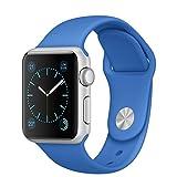 APPLE(アップル) Apple Watch Sport 38mmシルバーアルミニウムケースとロイヤルブルースポーツバンド