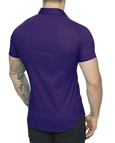 Alla Camicia Francese Basic Casual Viola Uomo Bridge Red HI1qpp