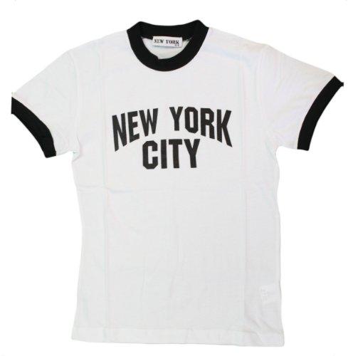 New York City Kids John Lennon Ringer NYC T-shirt Small (Small (Girl Kids Ringer T-shirt)