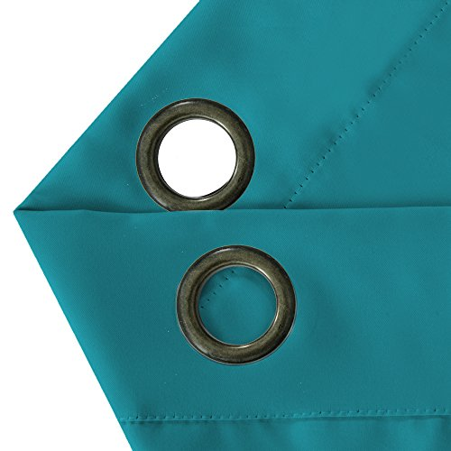 Turquoize Blackout Thermal Insulated Room Darkening Grommet Window Curtain for Bedroom, Teal, 52