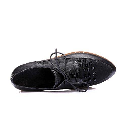 Chaussures Mocassin Plat Pour Femme Minivog Noir