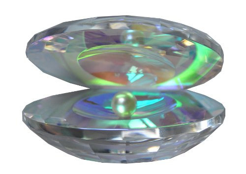 - Oleg Cassini Crystal Oyster with Pearl 139061 Iridescent