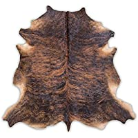 Cowhide Rug, Dark Brindle: medium (5X7)