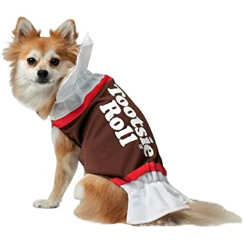 Amazon.com : Rasta Imposta Tootsie Roll Dog Costume, Small : Pet ...