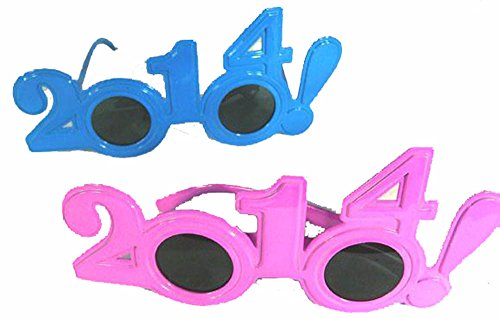 6 Pair of Assorted Color Year 2014 Eye ()
