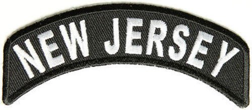 - NEW JERSEY STATE ROCKER Embroidered Biker Motorcycle NJ USA Vest Patch PAT-1295