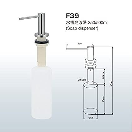 Togu F39 grade-304 fregadero de acero inoxidable dispensador de jabón de botella de dispensador