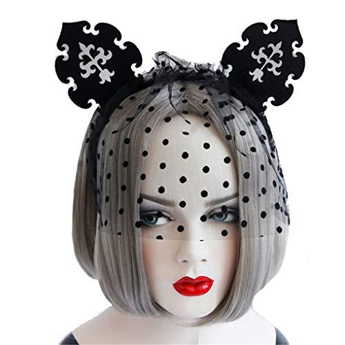 (Countonme Women Halloween Spider Web Hair Hoop Headband Cosplay Headdress Masquerade Accessory)