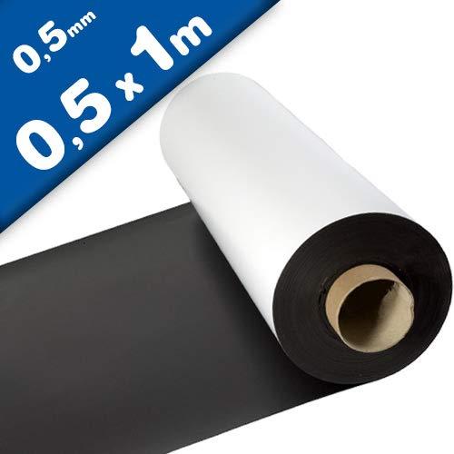 haftet auf allen metallischen Oberfl/ächen flexible magnetische Folie in Digitaldruck bedruckbar Magnetfolie wei/ß matt beschichtet 1mm x 31cm x 50cm