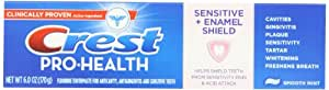 Crest Pro-Health Sensitive with Enamel Shield Smooth Mint Toothpaste 6 oz., (Pack of 4)