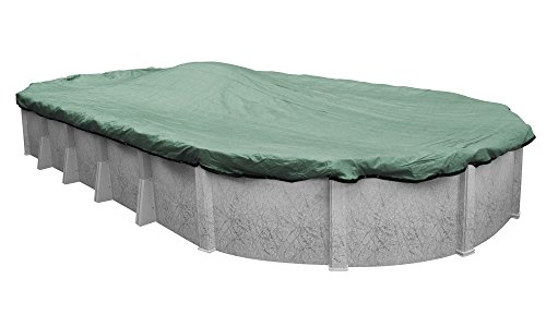 Pool Mate 411224-4 Extreme-Mesh Green Mesh Winter Pool Cover for Oval Above Ground Swimming Pools, 12 x 24-ft. Oval Pool