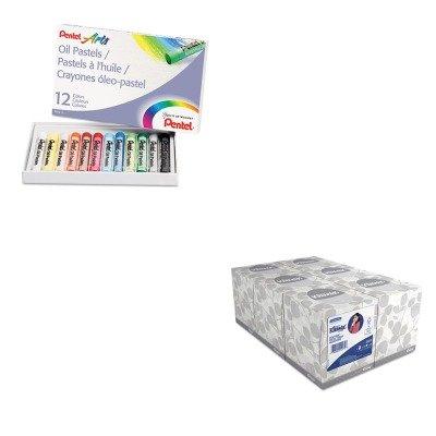 kitkim21271penphn12-value-kit-pentel-oil-pastel-set-with-carrying-case-penphn12-and-kimberly-clark-k