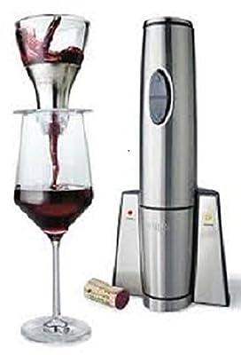 Waring Portable Electric Wine Opener & Aerator - Stainless Steel - WWO245CMR