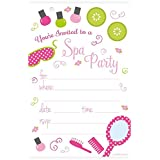 Spa Birthday Party Invitations - Fill In Style (20 Count) With Envelopes