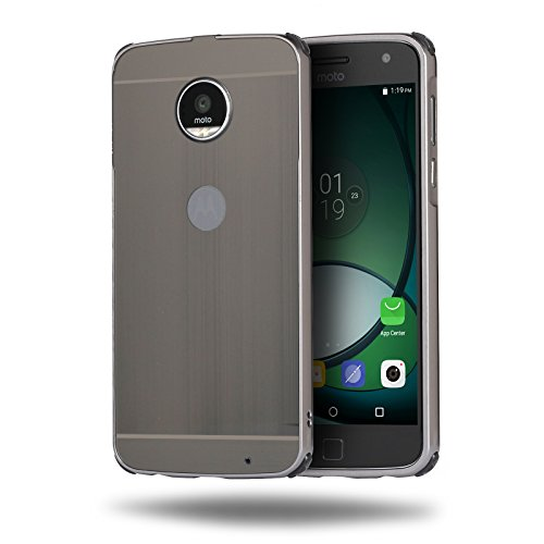 Price comparison product image Moto Z2 Play Case,DAMONDY Luxury Ultra thin Metal Brushed Premium Aluminum Shockproof Protective Bumper Hard Back Case Cover for Motorola Moto Z2 Play-Black