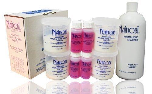 NAIROBI Sensitive Scalp Relaxer System+ Nomalizing shampoo 32oz by Nairobi professional Professional Relaxer System
