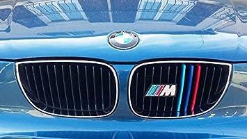 2017 11 Grill F20 F21 Nieren K/ühlergrill Grill Clip in stripe streifen Cover Trim Schnalle Decor 3D 3 Farbe M Power M Sport Tech Motorhaube Kapuze Fit B M W 1 Serie 2015