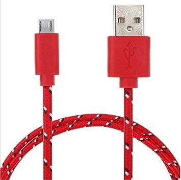 Shot Case Cable Trenza para Mando Playstation 4 PS4 Universal Cargador Conector Micro USB Tejido Tisse cordón Hilo Nylon 3 M Rojo: Amazon.es: Electrónica