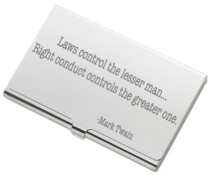Engraved Silver Plated Business (Personalized Silver Business Card Case Holder Engraved Free)