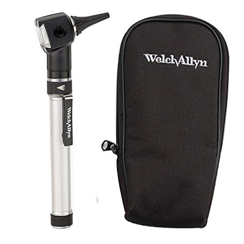 Welch Allyn Otoscope Set with AA Handle, Soft Case and 20 Specula (Batteries - Fiber Optic Allyn Welch
