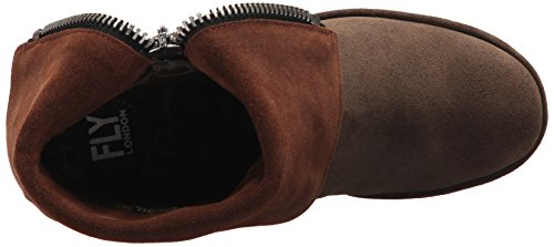 FLY London Women's Yex668fly Mid Calf Boot, Sludge/Camel Oil Suede, 41 M EU (10 US) by FLY London (Image #8)