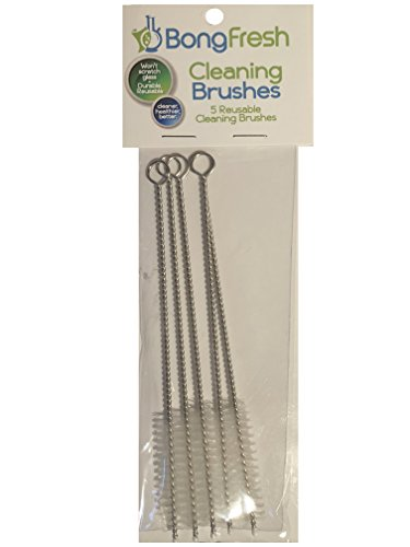 BongFresh - 5pk Reusable Cleaning Brushes™ (Bong Cleaner) Pipe Cleaners for down stems by BongFresh