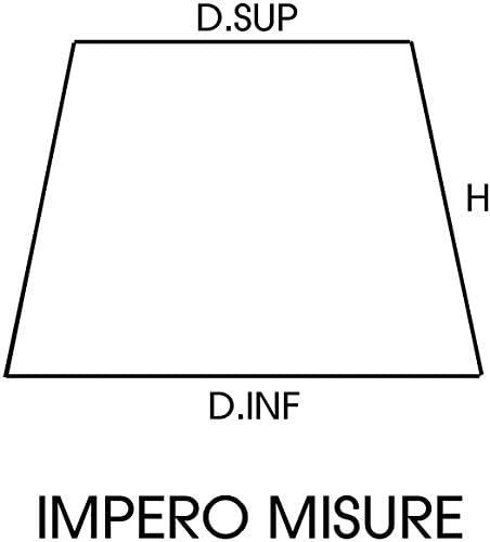 D.Inf.16 x D.SUP.11 x H.12 CM Attacco E14 Forma Tronco di Cono Generico Paralume Plissettato pong/è Avorio con Finitura Bicolore Oro 8 Misure Disponibili. 100/% Made in Italy