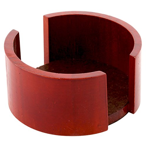 Thirstystone Circular Coaster Holder, Cherry Finish ()